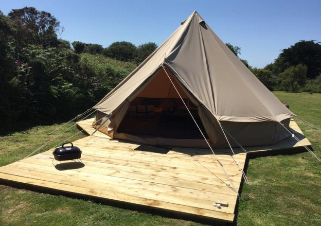 Tremorvu Bell Tents, Porthleven, Cornwall