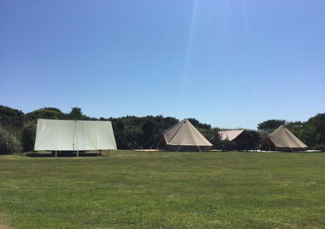 Tremorvu, Bell Tents, Porthleven, Cornwall