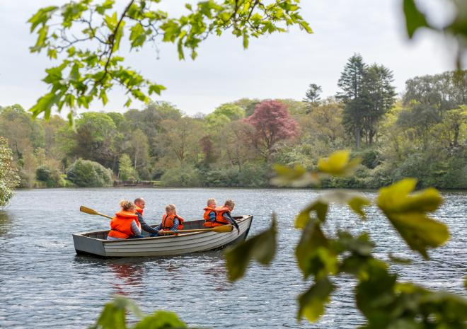 Woodlands, Cornwall, family, resort, lake, Clowance lake, boating lake, terrace, Clowance, Clowance Estate, free activities, fun, holiday