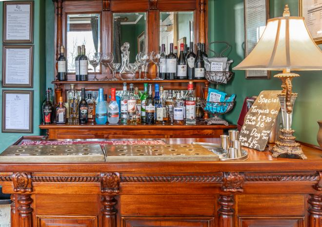 Fully licensed bar with local drinks