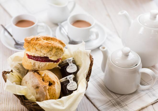 Indulge in a Cornish cream tea at the Cornish Pantry