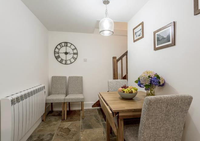 The dining area at Fal River Cottage