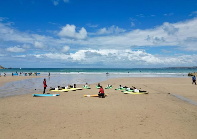 View of Rose in Vale Country House Hotel, St Agnes, Cornwall from above