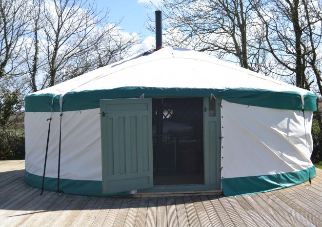 East Thorne Yurts, Clamping in Bude