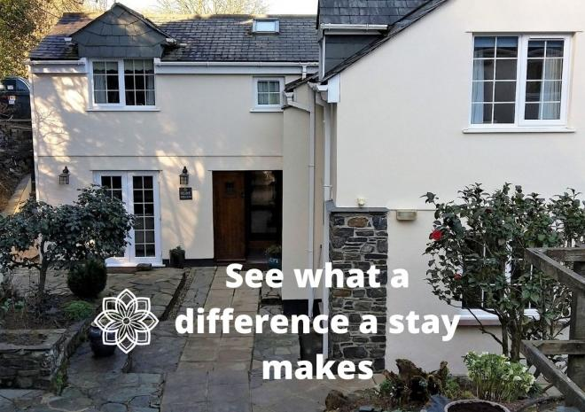 Primrose Cottage entrance - see what a difference a stay makes!