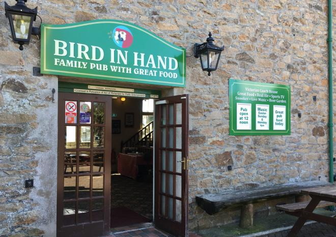Main Entrance to the Bird In Hand Pub, Hayle, West Cornwall