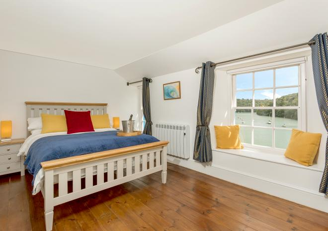 Master bedroom at Fal River Cottage
