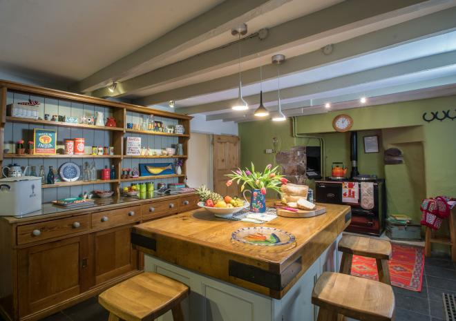 Bosinver Farm Holiday Cottages Farmhouse Kitchen St Austell Cornwall