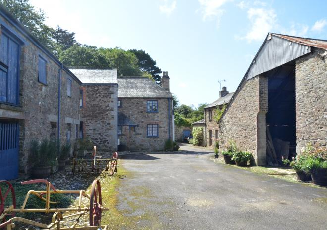 Cottages in Cornwall | Lanwithan Cottages | Farmyard |  Lostwithiel