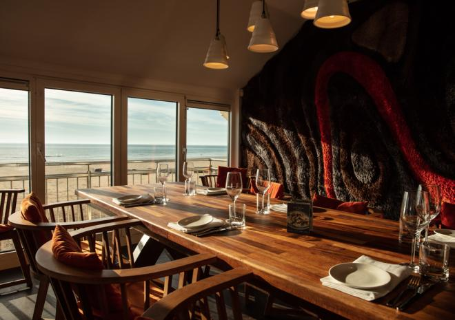 Private dining room at Jamie Oliver's Fifteen Cornwall, Restaurant, Watergate Bay