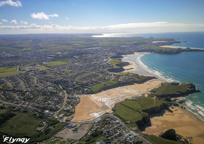 Flynqy, Newquay Aerial View