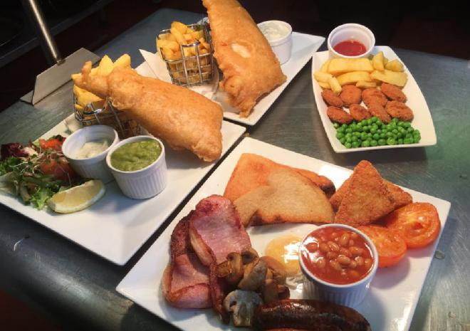 Great Food at the Bird In Hand Pub, Hayle, West Cornwall
