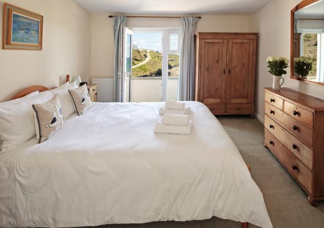 Sea views from the bedroom | Lower Tregudda | Port Gaverne | Port Isaac