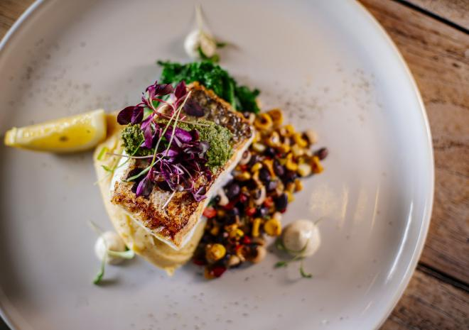 Roasted Hake - Summer Menu 2019