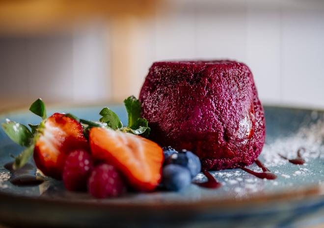 Summer pudding with berries