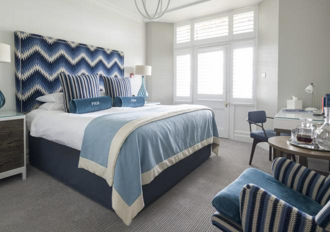 Standard seaview room at Padstow Harbour Hotel