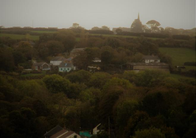 Gallen-Treath Guest House from the Southwest Coastpath, Bed and Breakfast, Porthallow, Lizard Peninsula, West Cornwall