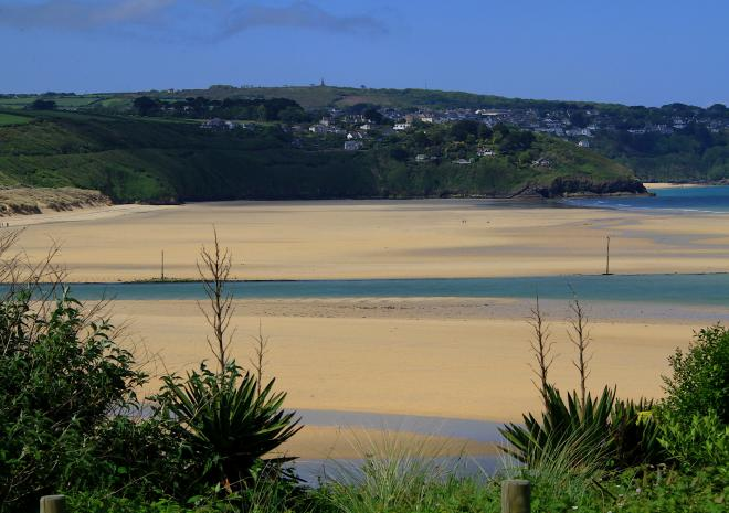 Hayle Beach Viewed from The Beach House