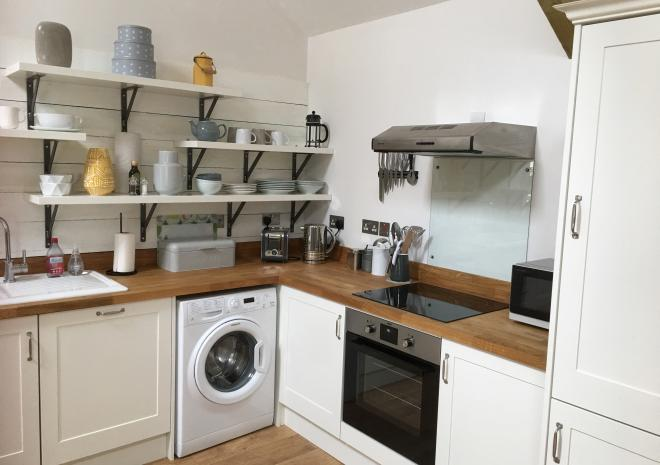 Gilliflower - Hand-made kitchen with oak worktops.