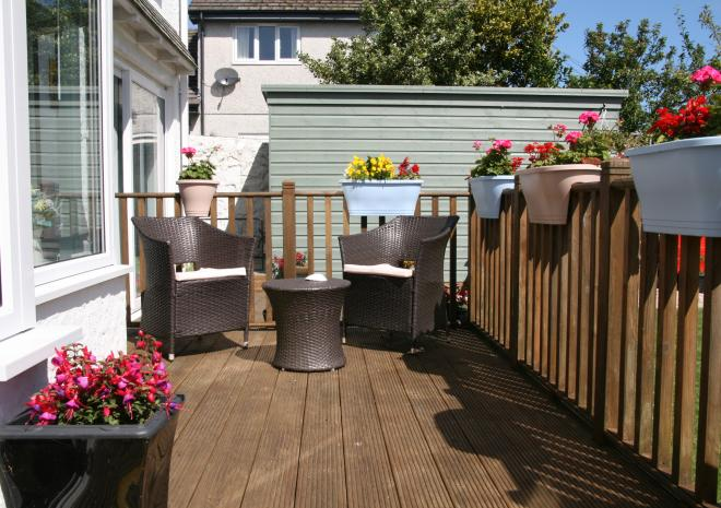 Garden Terrace at Count House Cottage B&B, Carbis Bay, St Ives