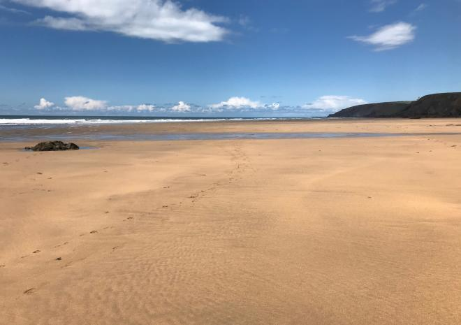 Acres of sand at Sandymouth beach