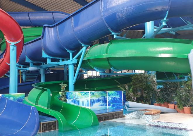 The Indoor Pool, with 3 flumes