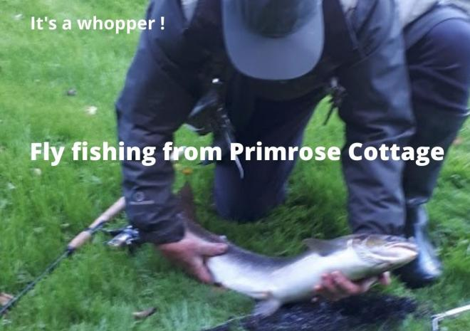 One happy fishing guest - what a Whopper!