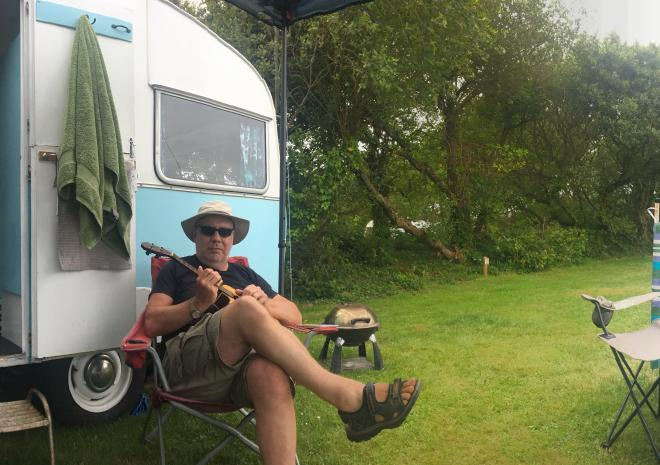 Relaxing at Little Trevothan Camping & Caravan Park