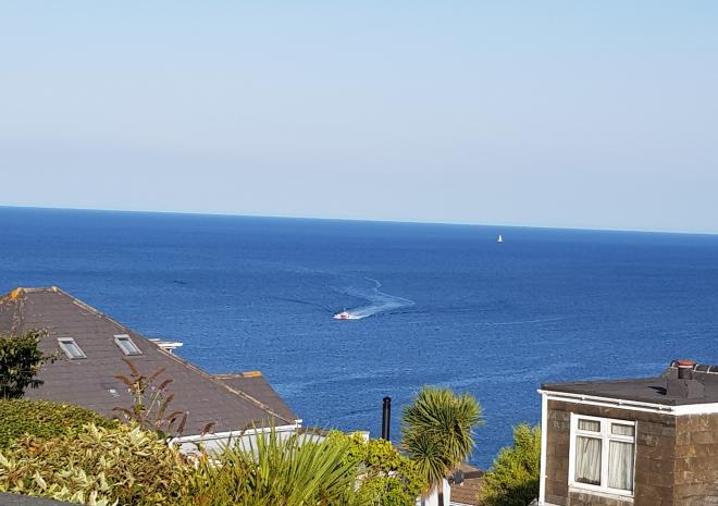 The sea views at Little Pebble House, Mevagissey