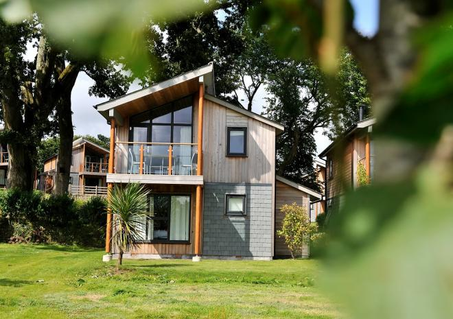 self-catering woodland lodges at The Cornwall