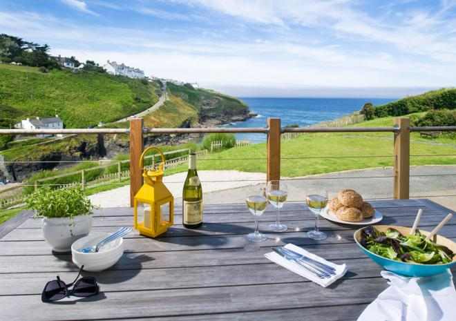 Views of Port Gaverne from Lower Tregudda Apartment