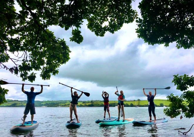Paddle Boarding on the River Tamar