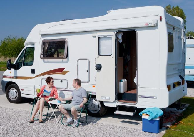 Hard standing motor home pitches
