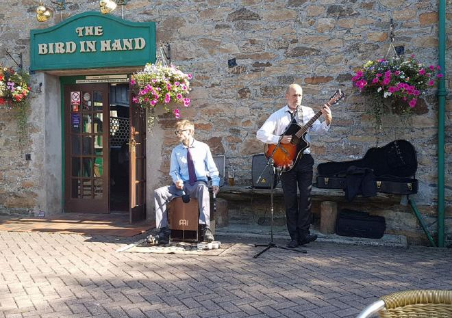 Live music on days in the summer at the Bird In Hand Pub, Hayle, West Cornwall