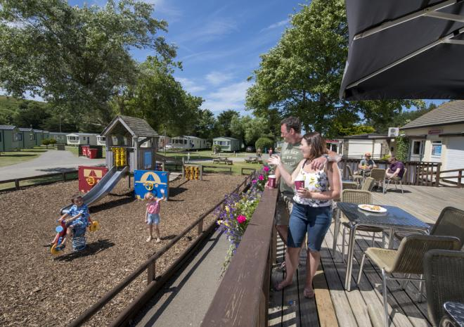 Outdoor Patio and Adventure Playground, Holywell Bay Holiday Park