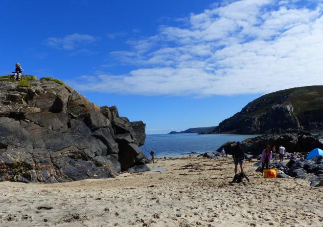Boat Cove at Pendeen lighthouse, just 10 mins drive from Porthmeor Cottages