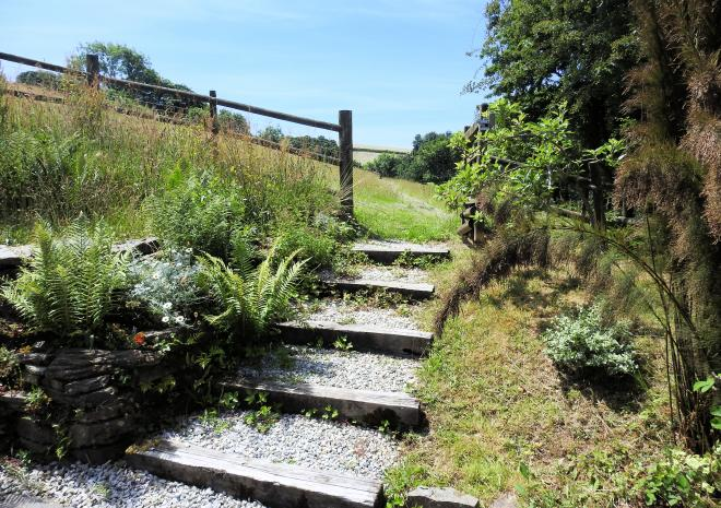 Path to the fields | Well Cottage | Looe | Cornwall