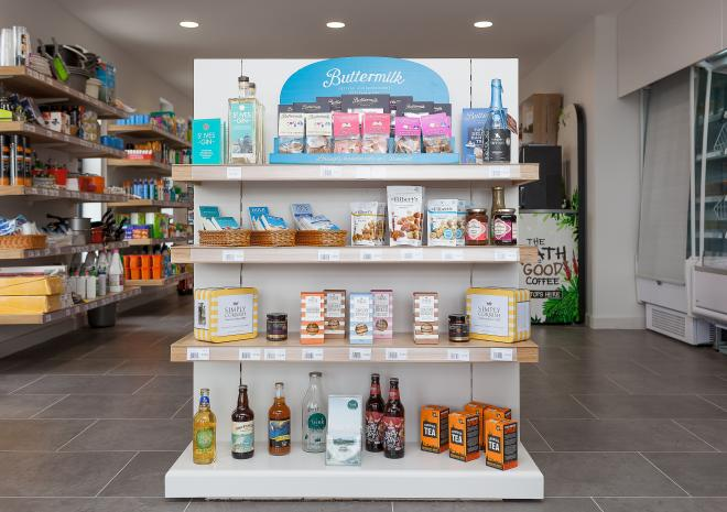 Polmanter Touring Park on-site shop stocking all essentials