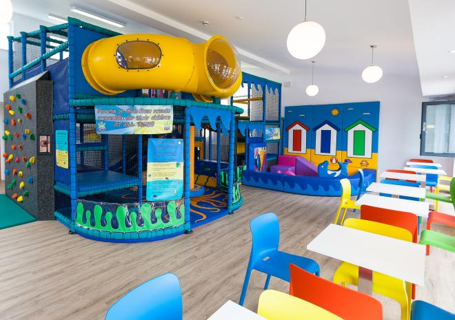 Polmanter Touring Park's indoor soft play area