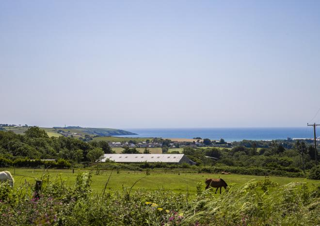 View to St Austell Bay from Poltor Cottage