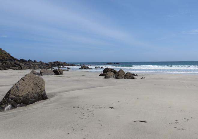 Fantastic beach off the beaten track in Coverack