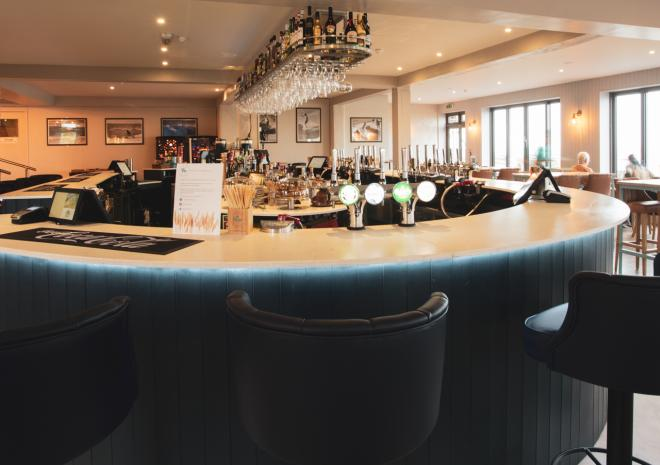 An amazing 360 degree bar with incredible sea views over Crantock beach