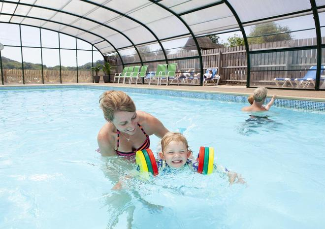 Visit our indoor heated swimming pool