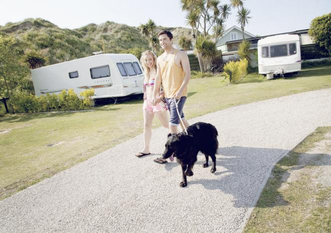 Pets welcome in touring, motorhomes & camping