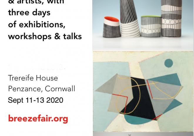This autumn Breeze Art and Makers Fair will bring an array of over 80 current artists together under the grandiose roof of 18th Century manor, Trereife House, in Penzance, Cornwall, on the 13-15th September.