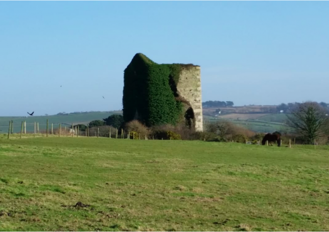 View from Poltor Cottage to Austen's Engine House
