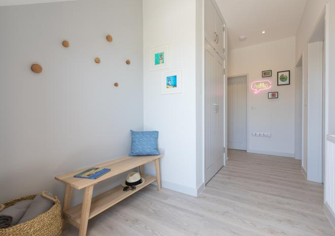 Entrance and hallway of the self catered apartments at Polmanter Touring Park, St Ives