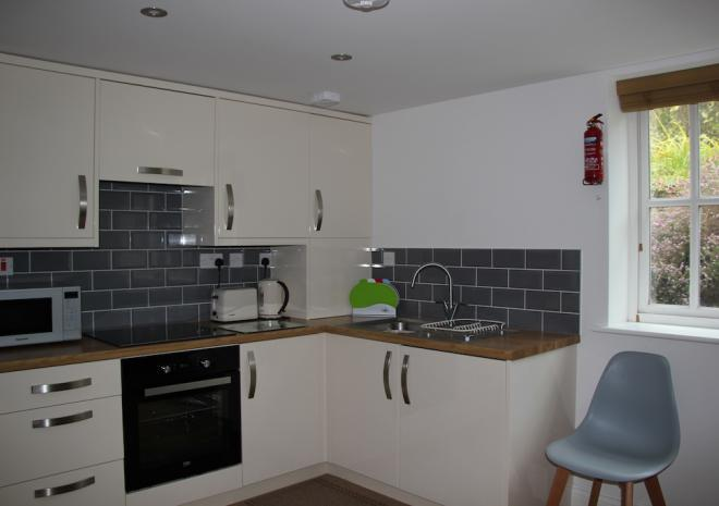 Holiday Rental Falmouth Cornwall Castle Apartment kitchen