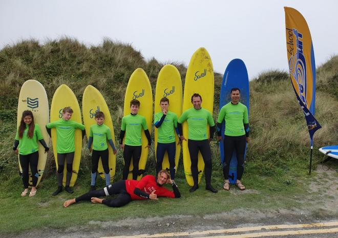 Surfing lesson with Shore Surf at Gwithian