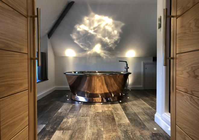 Skyfall apartment for two at Wooldown Holiday Cottages, Bude, North Cornwall